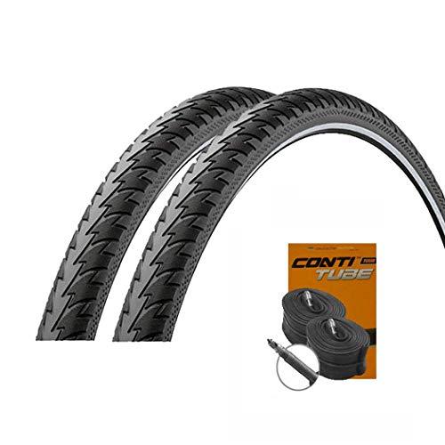 Touring Plus Reflex Pannenschutz Reifen 47-622 / 28x1.75 + Conti Schläuche Rennradventil ()