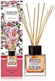 Areon Home Perfume Reed Diffuser 50 ml 10 Rattan Reeds - Rose Valley