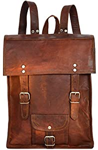 Gusti Leder U39 - Bolso mochila (piel, 29,5 x 38 x 12 cm), color marrón de Gusti Leder