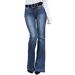 Aleumdr Jeans Donna a Vita Alta Jeans Donna Elasticizzati Slim Fit Pantaloni Donna a Zampa D'Elefante Jeans Skinny Donna
