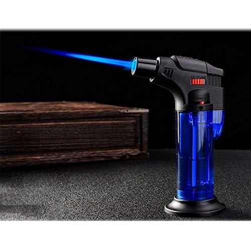 1 Stück Butan-Feuerzeug, nachfüllbar, verstellbare Flamme Feuerzeug, Kochfackel, Grill, Zündung, Picknick-Werkzeug Einheitsgröße blau