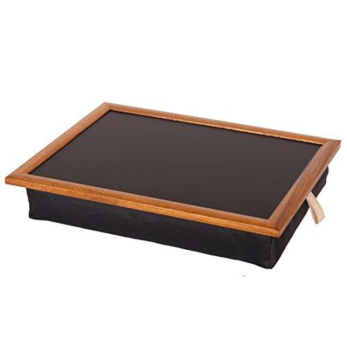 Andrew´s Knietablett Laptray mit Kissen Tablett Uni schwarz/schwarz/Eiche