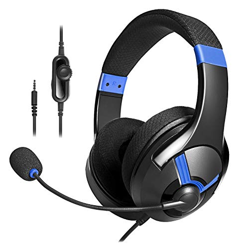 AmazonBasics - Cuffie gaming, Blu