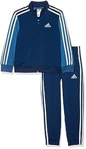 adidas CE8597, Tuta Bambino, Multicolore (Blu Notte/Blu Acceso/Bianco), 9-10 anni (taglia produttore: 140)