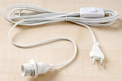Kabel mit Fassung weiß E14 2,5m Zuleitung von BOLTZE - Lampenhans.de