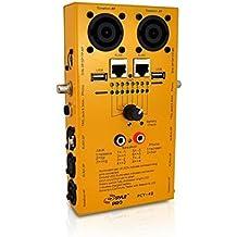 Pyle PCT40 - Probador de cables de audio con 12 conectores