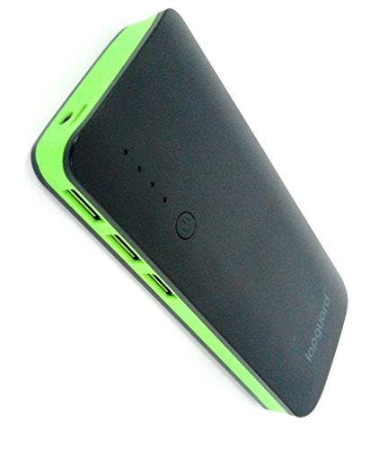 Lapguard Sailing-1510 Power Bank 13000 mAh Make In India portable Charger powerbank -Black-Green