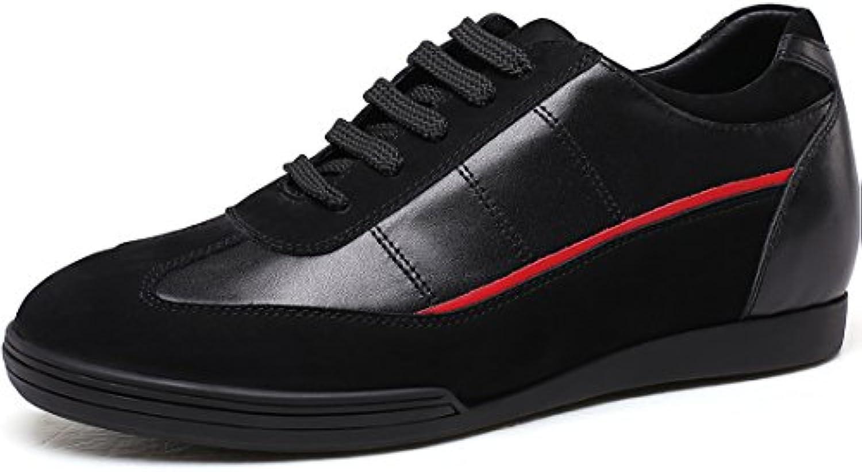 CHAMARIPA Aufzug Schuhe Männer Höhe Zunehmende Leder Sport Sneaker Casual Heben Unsichtbare Ferse Schuhe Teller