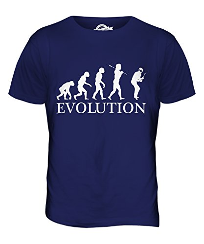 CandyMix Einbrecher Evolution Des Menschen Herren T Shirt Navy Blau