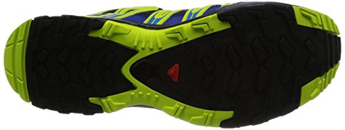 Salomon Homme XA Pro 3D Chaussures de Course à Pied et Trail Running, Synthétique/Textile Bleu (Blue Depths/navy Blazer/lime Punch.)