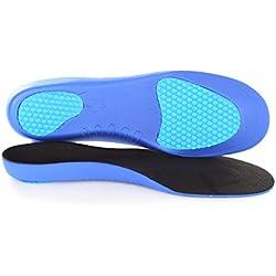 2 Pares Plantillas ortopédicas Sole Control Ultra ligeras, soporte para el arco, almohadillas de gel para el talón y metatarso (L (EU 43-45))