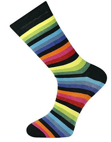 Mysocks® Knöchelsocken Neuer dunkler Regenbogen Bunte Socken Für Männer
