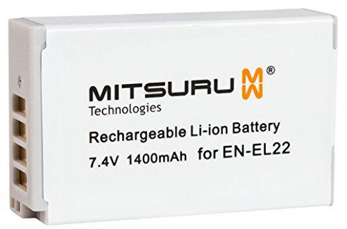 Mitsuru 10 Wh 7.4 V Original Akku für Nikon 1 J4. Ersetzt: EN-EL22