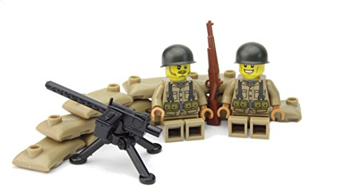 WW2 WWII Custom Posición Ametralladora M1919