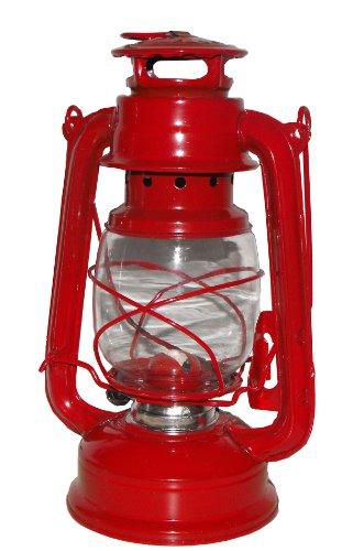 Favorit Laterne rot, Öllampe für Garten, Sturmlaterne, für Lampenöl geeignet, einstellbare Dochthöhe, Höhe 25 cm – 2037R