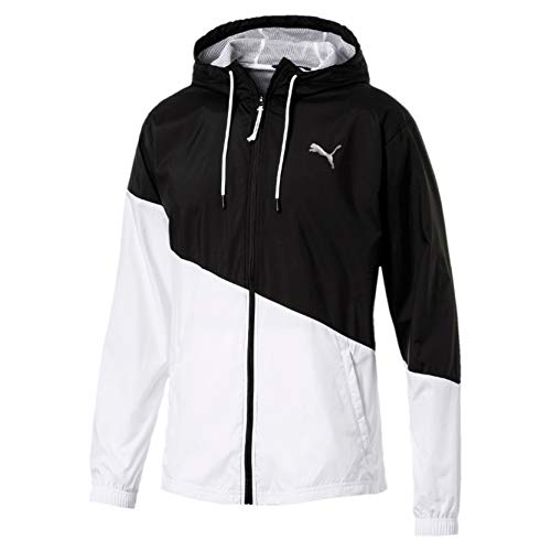 PUMA Herren A.C.E. Windbreaker Trainingsjacke, Black White, M