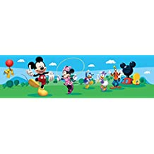 AG Diseño wbd 8079 Disney Mickey Mouse, cenefa adhesiva, 0,10 x 5 m – 1 rollo, papel, Colorful, 500 x 10 cm