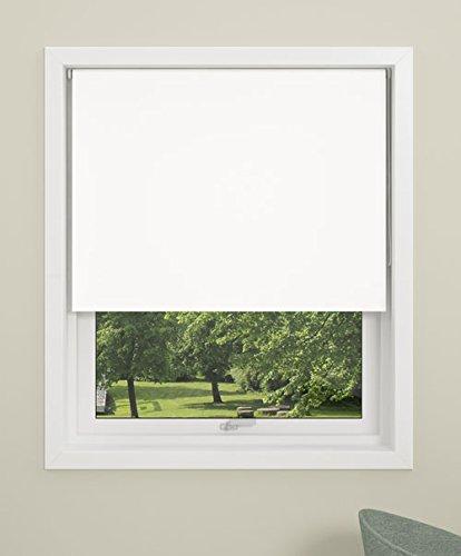 Debel - Estor Opaco Enrollable, 100x 150cm, Mini 100% poliéster, Blanco, 130 x 175 cm