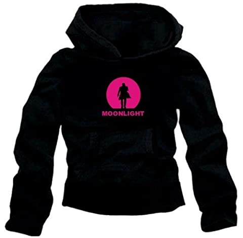 MOONLIGHT HOODIE schwarz/pink Alex O'Loughlin GR.M