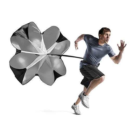 Running Speed Training Trainingsprodukt 58 Zoll Resistance Fallschirm Drag Umbrella Runner Chute Soccer Fußball Trainer für Gewicht Kugellager Sport Fitness Explosive Power