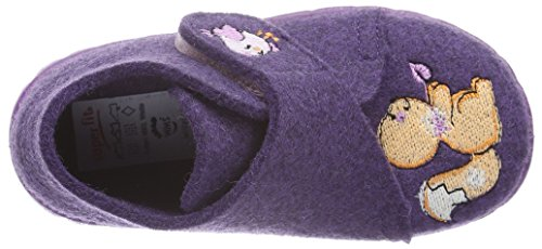 Superfit Happy, Chaussons fille Violet - Violett (LILA KOMBI 77)