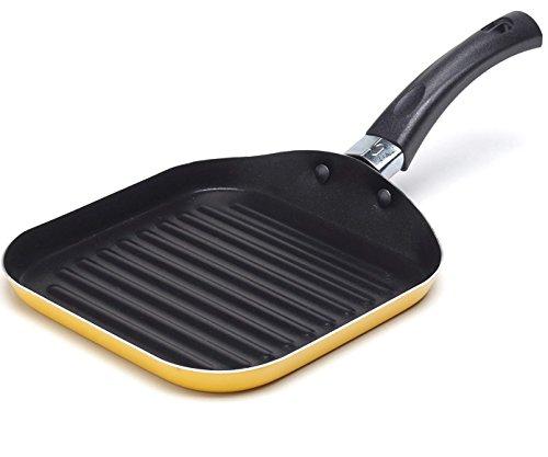 Sartén cuadrada para parrilla pequeña de 14 cm con forma de omelette.