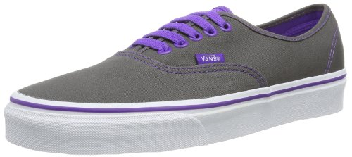 Vans U Authentic Pop - Baskets Mode Mixte Adulte - Gris (Pewter/Electric Purple) - 36 EU