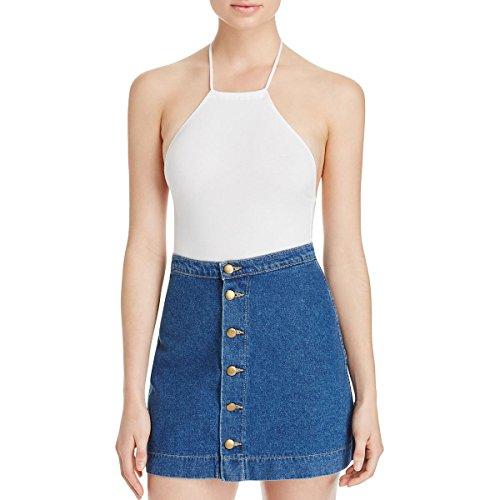 Bodysuit Apparel American (American Apparel Womens Jersey Halter Bodysuit White S)