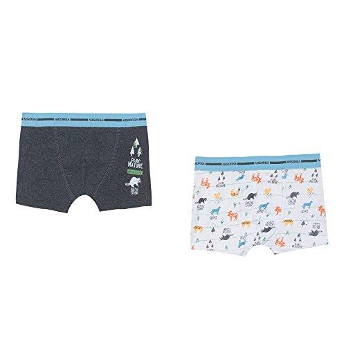 Absorba Underwear Boxer Garçon, (Gris Chiné Foncé), 4 Ans (Taille Fabricant: 4A) (Lot de 2)