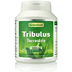 Greenfood Tribulus Terrestris, 1000mg, hochdosiert, mind. 80% Saponine, 100 Tabletten