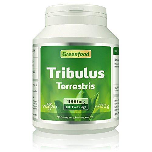 Greenfood Tribulus Terrestris, 1000mg, hochdosiert, mind. 80{75032452e7f014b53e6a1f621fddc2bfcc6b9b6018c30fa7c5d01a2c8265e429} Saponine, 100 Tabletten