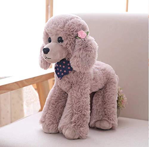 KOONNG 25-40 cm Simulation Teddy Hundepuppe, Pudel Heimtextilien Plüschtiere für Mädchen Geburtstagsgeschenke, B, 40CM -