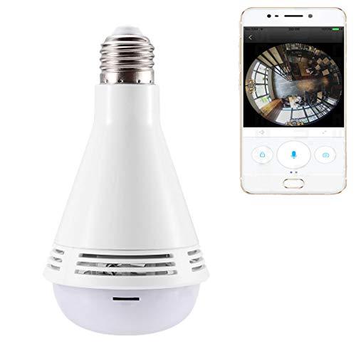 AXDNH Video Monitor, Altoparlante Bluetooth Baby 360 ° Telecamera panoramica Wireless bidirezionale Parlare Audio Telecamera HD Allarme di Sicurezza della Lampadina