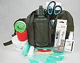1.-Erste-Hilfe-Set speziell für den Hund (mit 0,5 l-Flasche)-oliv- -– enthält NUR Artikel die wirklich beim Hund benutzt werden können (keine unnötigen Spritzen usw.)-- für Notfall, Wanderung, Sport, Jagd