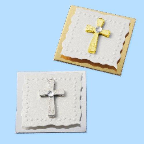 Sticker kreuz gold 3er pack ca 3 cm selbstklebend -
