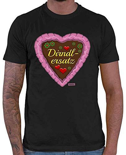 HARIZ Herren T-Shirt Dirndlersatz Lebkuchen Oktoberfest Tracht Party Plus Geschenkkarte Schwarz - Damen Lebkuchen Mann Kostüm