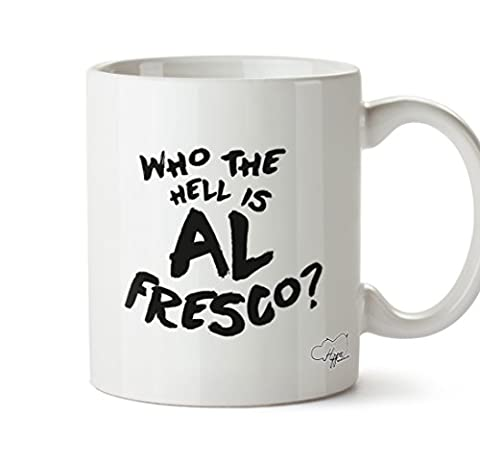 Hippowarehouse Who The Hell est AL Fresco 283,5 gram Mug Cup, Céramique, blanc, One Size (10oz)