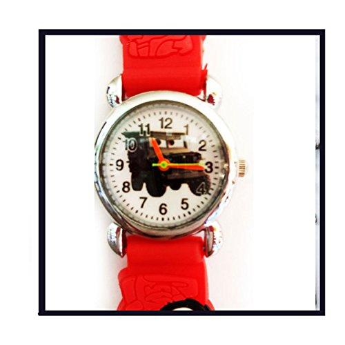 10 piezas de pequeños Jeep para cumpleaños reloj de pulsera Jelly Band niños estilo al azar