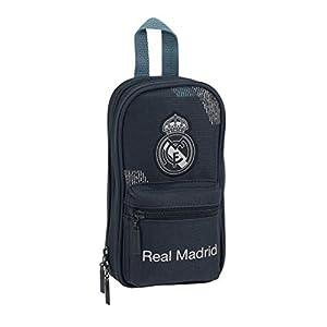 Safta- Estuche Mochila Vacio Real Madrid, Color Azul, 23 cm (222420)