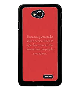 PrintDhaba Quote D-4974 Back Case Cover for LG L70 (Multi-Coloured)