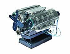 Build a fully functional, motorized model of a V8 petrol engine. Features sound recorded from a real V8 and illuminating spark plugs. Contains nearly 300 pieces and all that you need to assemble the model. Comes with a Haynes style manual giving you ...