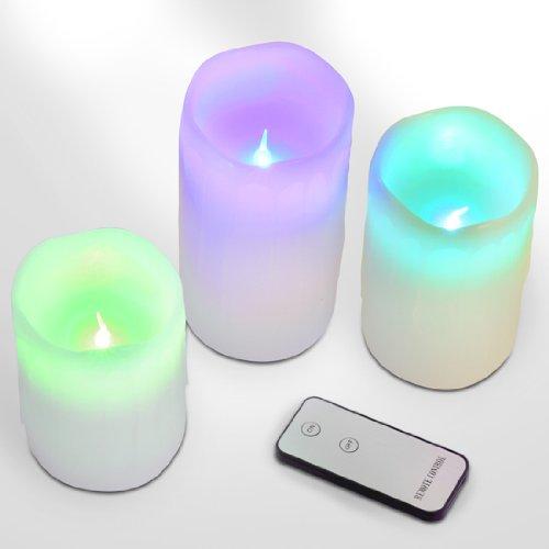 Jago - STPKZ01-3er+FB+FW - Velas LED - Cambio de color con mando a distancia