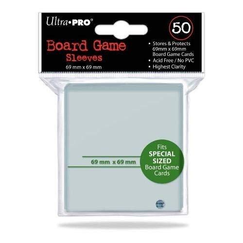 50 Ultra Pro 69 x 69 Brettspiel Hüllen Square Special Sized -