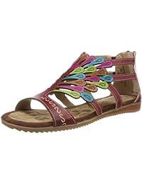 bfc40bd9dd5 Laura Vita Women s Vaccao Gladiator Sandals Red