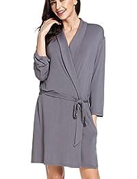 adomer Mujer Batas Kimono Algodón Camisón Encaje Pijama Túnica ...