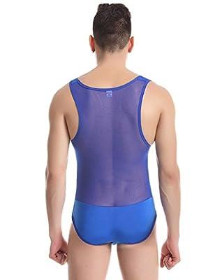 Zacoo Sexy Men Bodysuit Underwear Undershirt Slips