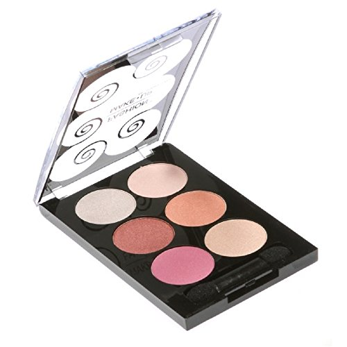 PALETTE DE MAQUILLAGE DÉGRADÉ 6 TONS degradé de vrose + 1 PINCEAU PERFECT MAKE UP