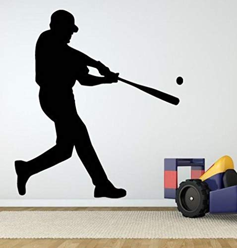 Wohnzimmer Schlafzimmer Wandaufkleber Für Mädchen Wohnkultur Baseball Player Diy Abnehmbare Hintergrundbild Schlafsaal Vinyl Pvc Bild 57X66 cm Baseball-stein