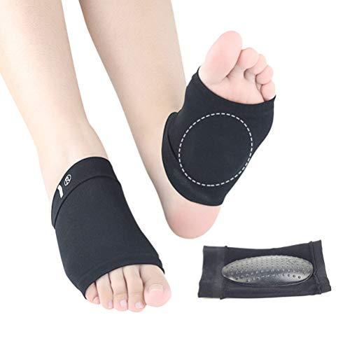 SUPVOX 1 Paar Flache Füße Einlegesohlen Plantarfasziitis Einlagen Fußgewölbe Bandage Arch Support Pads für Männer und Frauen (Schwarz) -