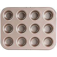 Molde para Hornear Antiadherente Mini 12 Incluso Muffin Cake Mold Pequeño Muffin Cup Cake Molde para